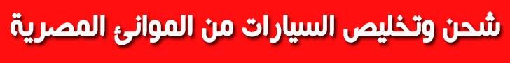 شحن وتخليص السيارات الى مصر
